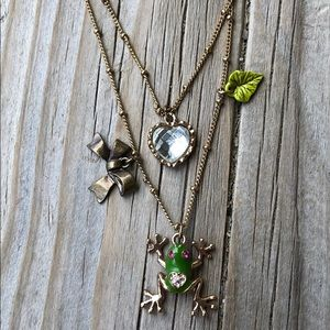 Betsey Johnson Crystal Toad Tiered Necklace!